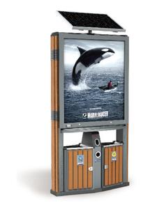 節能型木紋廣告桶238