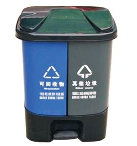 20升带脚踏分类垃圾桶155