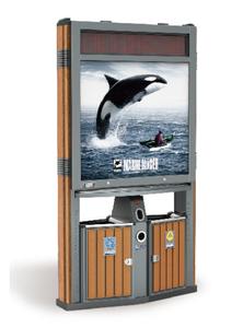 全能型木紋廣告桶237